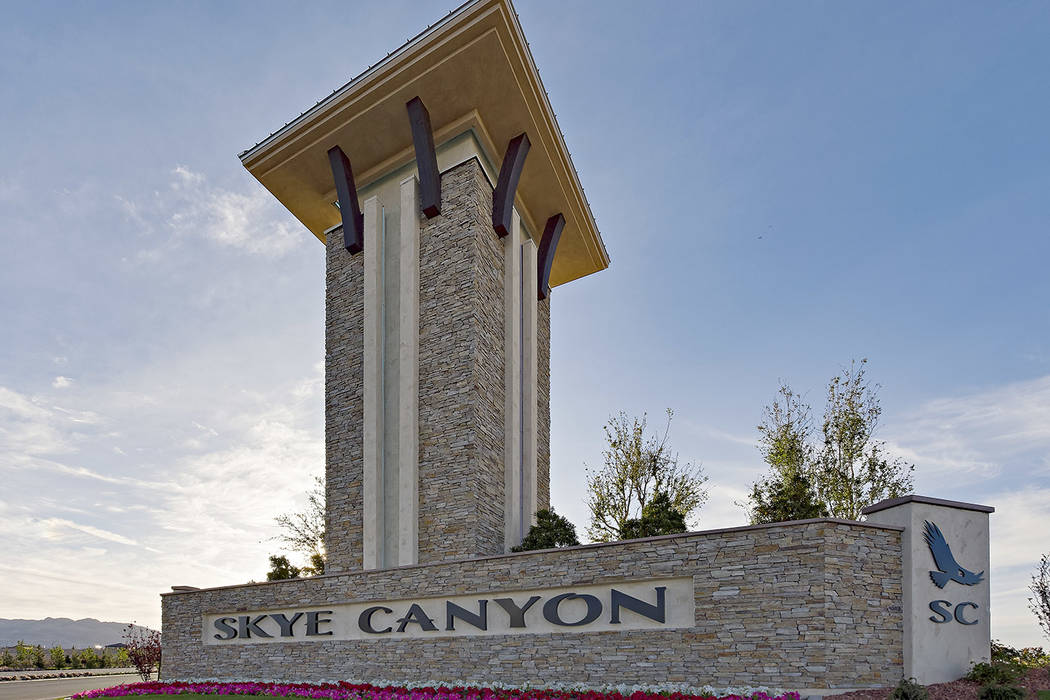 Skye Canyon in northwest Las Vegas was ranked 20th in the nation in 2019. It had 538 sales. (Sk ...