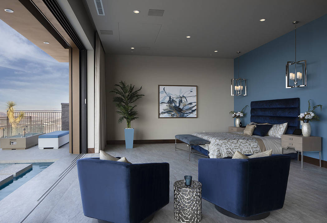 The master bedroom has disappearing walls that provide an indoor/outdoor lifestyle. (Jeffrey A. ...