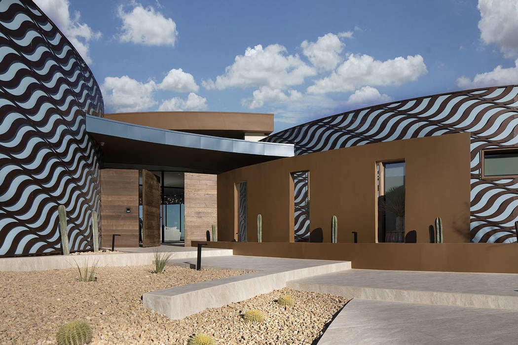 Sun West Custom Homes built the 2020 New American Home in Ascaya in Henderson. (Jeffrey A. Davi ...