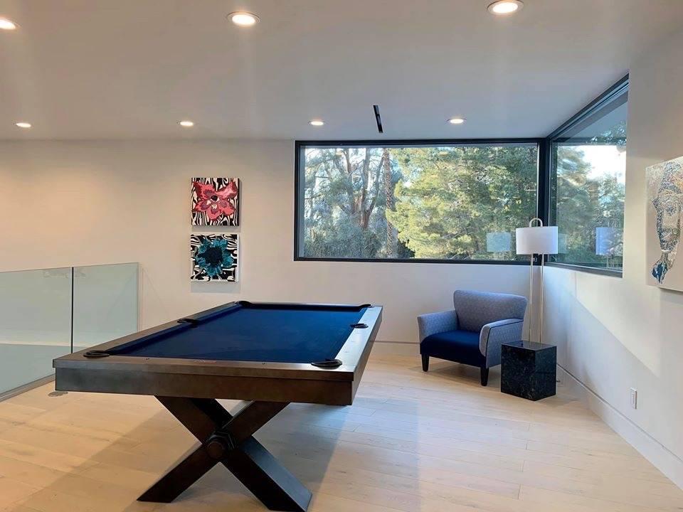 The upstairs game room. (Kimberly Joi McDonald)