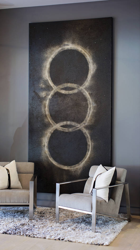 The staged home was showcased at the World Market Center winter home furnishings' show. (Kimb ...