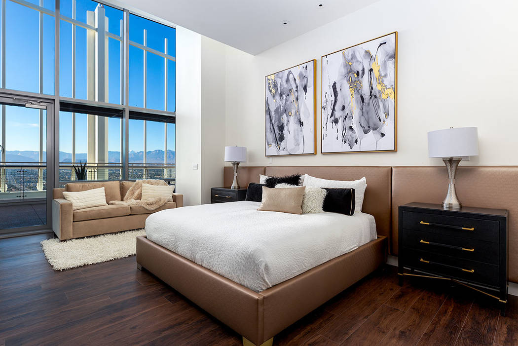 The master bedroom has views and plenty of living room. (Turnkey Pads)