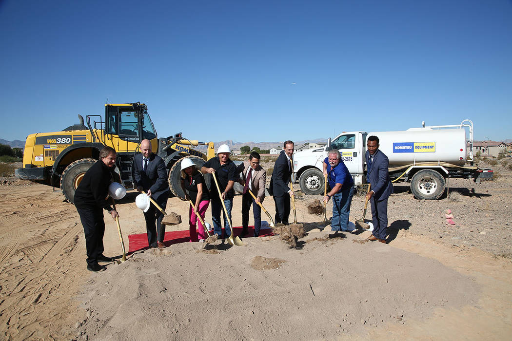 Several dignitaries attended the groundbreaking ceremony for Premier Displays and Exhibits. The ...