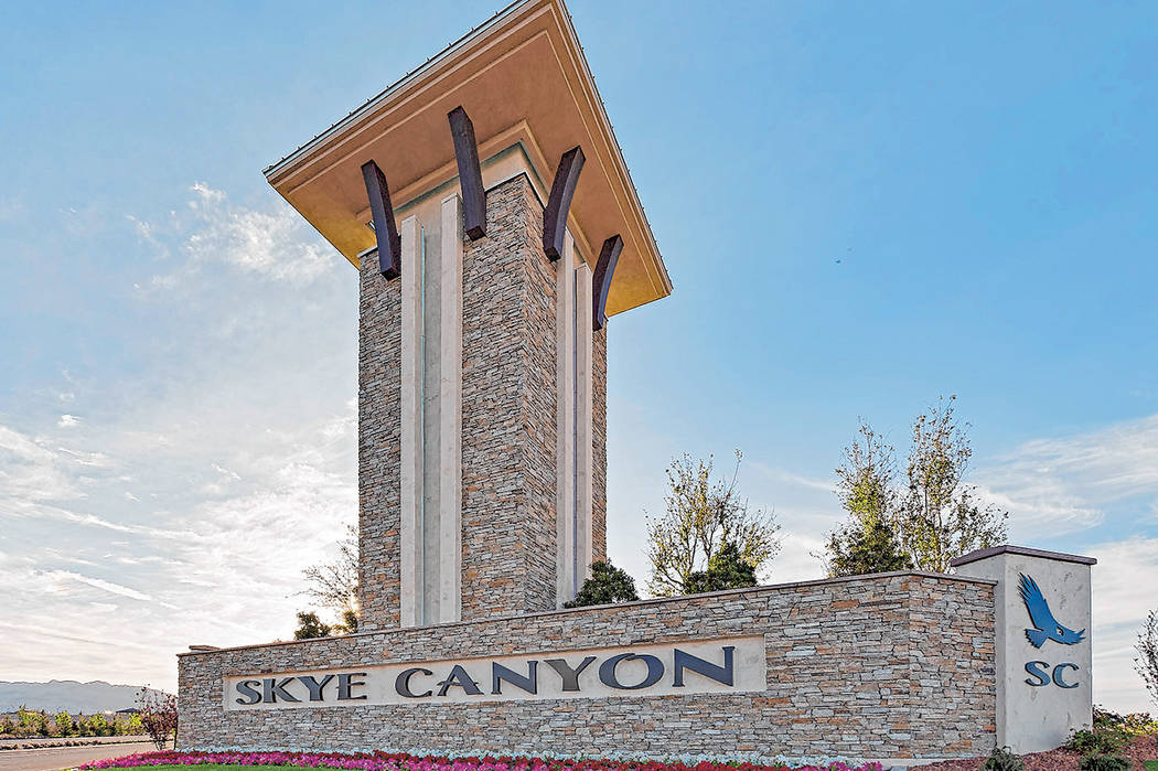 Homebuilder Century Communities has taken over Skye Canyon. (Skye Canyon)