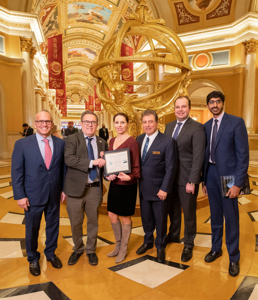 Environmental Protection Agency administrator Andrew Wheeler visited The Venetian Las Vegas to ...