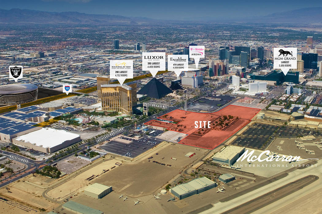 A bankruptcy sale of 38.56 acres of property on the Las Vegas Strip is planned. (Keen-Summit C ...