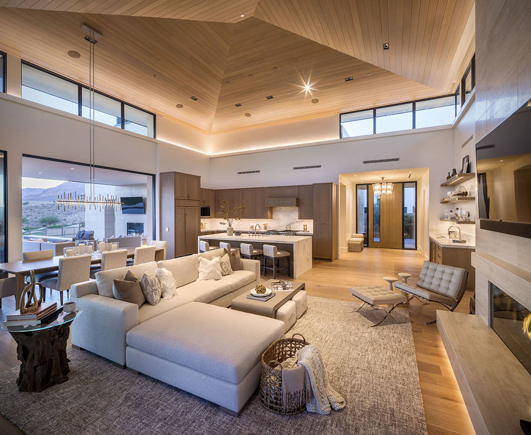 The majority of the home designs in The Summit are midcentury modern. (Discovery Land Co.)