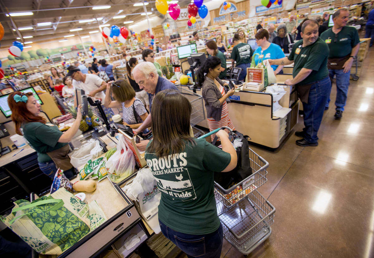 A Sprouts store opened in 2016 in Las Vegas. The Retail Association of Nevada said grocery stor ...