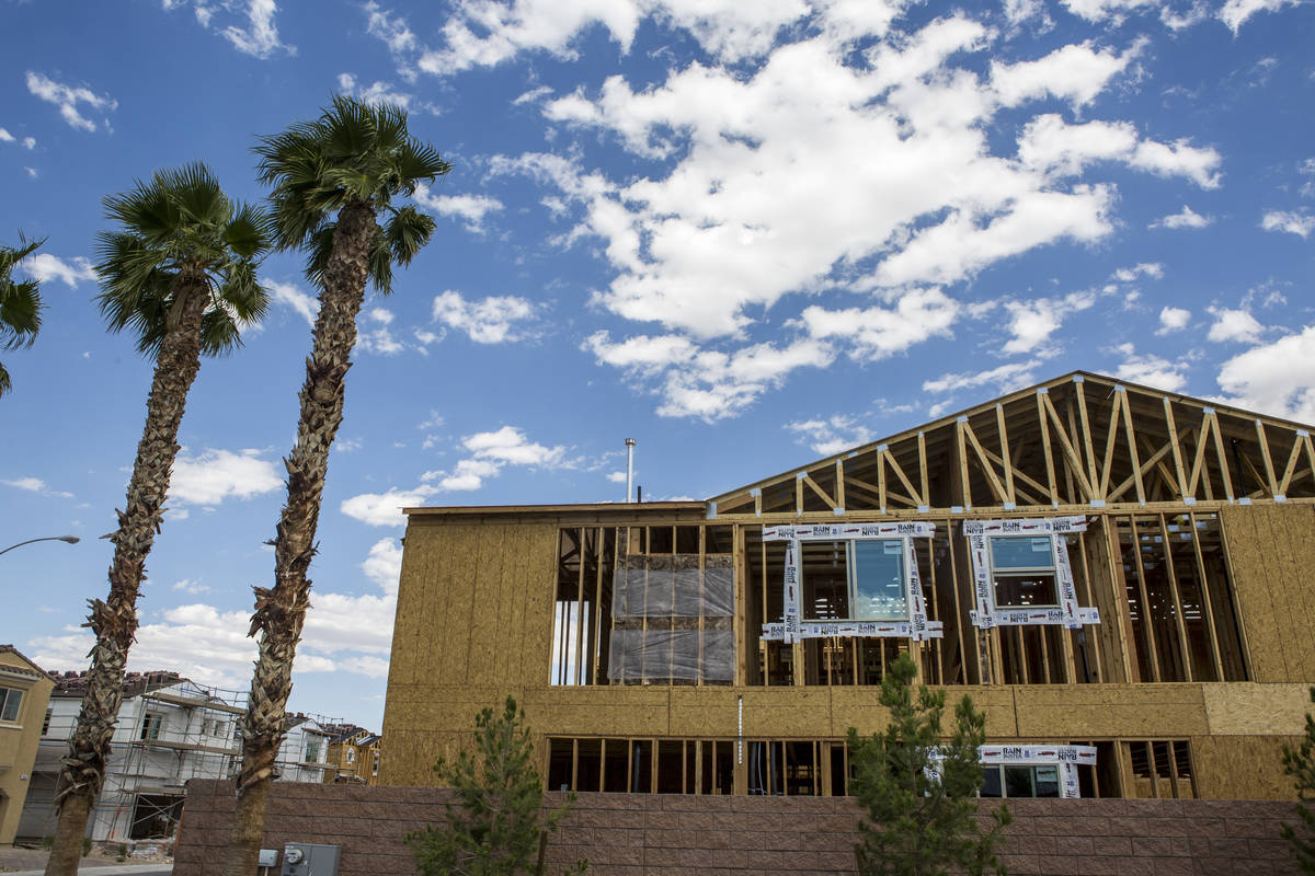 A Century Communities home is being completed in 2017. Las Vegas homebuilders are looking for n ...