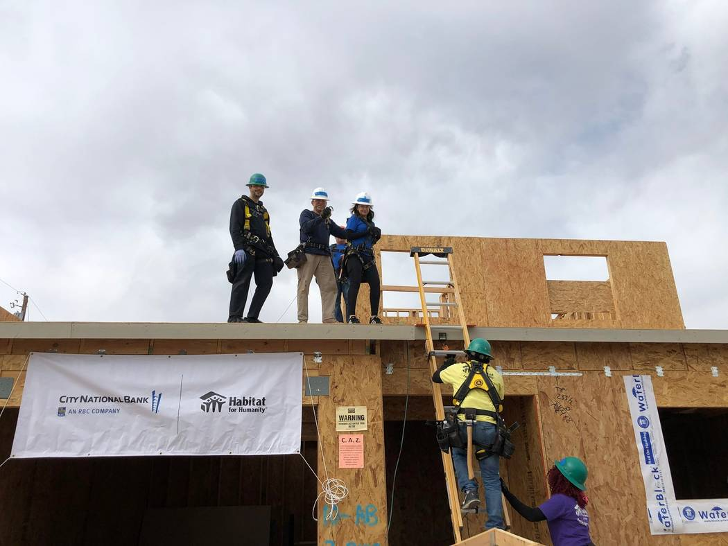 City National Bank colleagues helped build a Habitat for Humanity Las Vegas project in Henderso ...