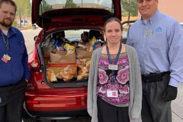 Melissa Schaefer and her team at Albertsons in Summerlin provided groceries for the frontline h ...