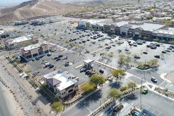 Construction continues on Remington Nevada's Mountain's Edge Marketplace at the southwest cor ...