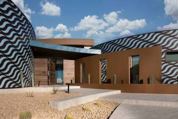The New American Home 2020, that was built by Sun West Custom Homes within the Ascaya community ...