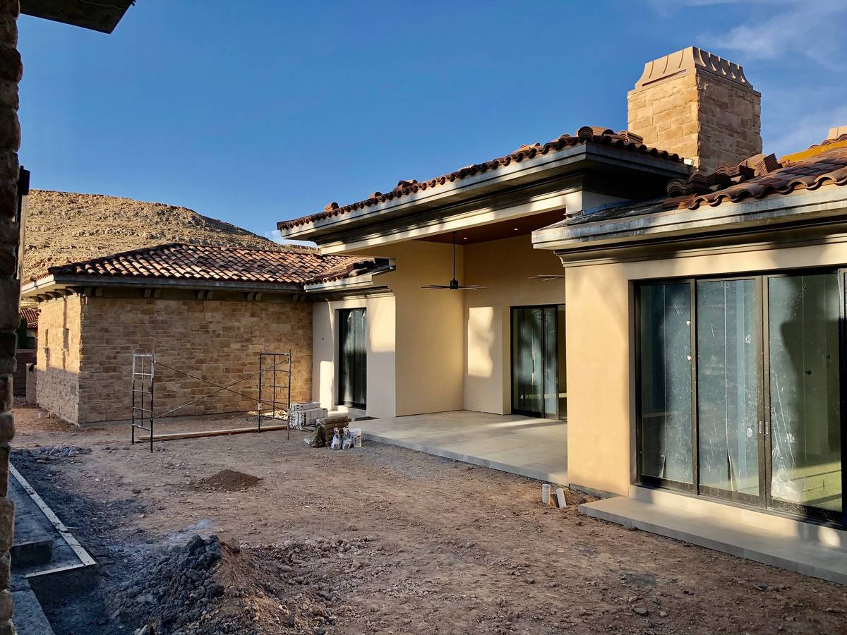 The home is expected to be completed in May. (Domanico Custom Homes)