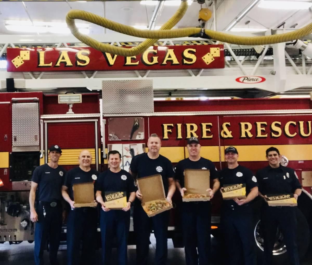 Clark County and city of Las Vegas fire stations in Summerlin got pizza deliveries from the mas ...