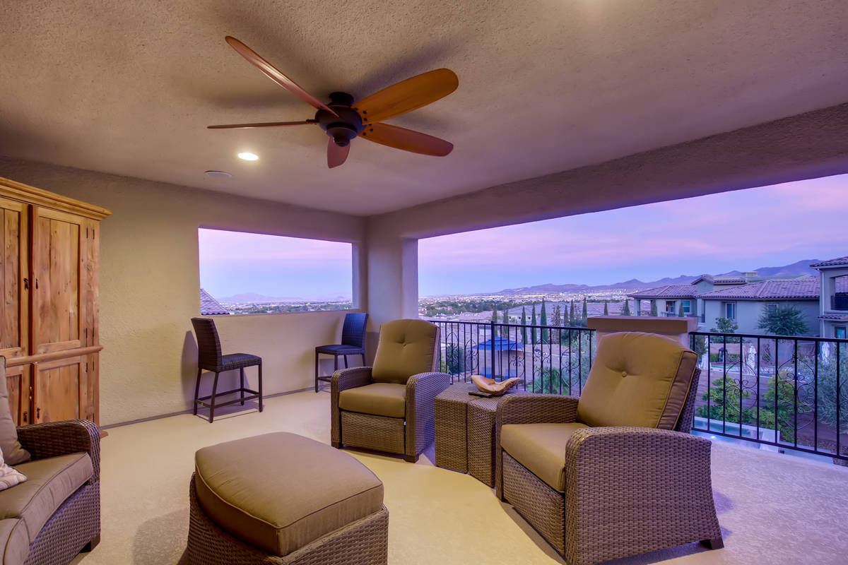 The home has a second-level enclosed patio. (Realty One Group)