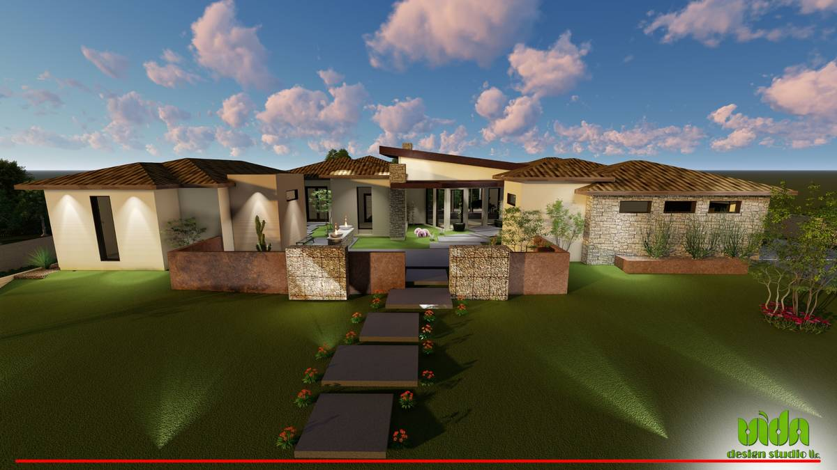 An artist's rendering shows Raiders quarterback Derek Carr's Southern Highlands home that he pu ...