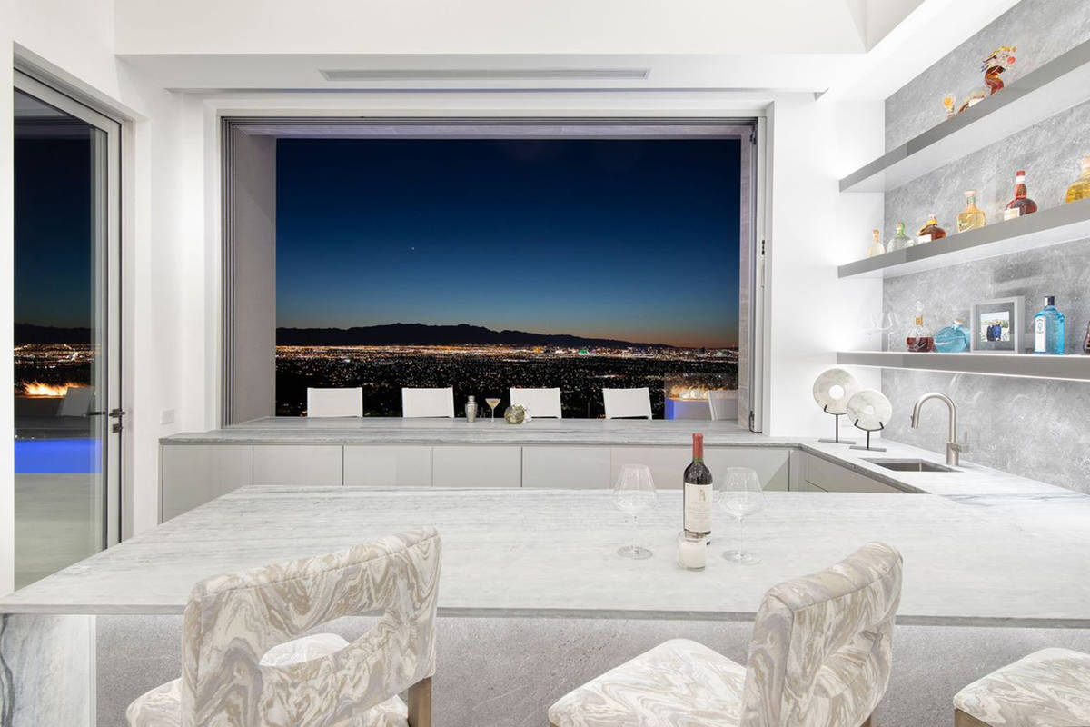 This home in the Richard Luke Collection has striking views of the Strip. (Richard Luke Collection)