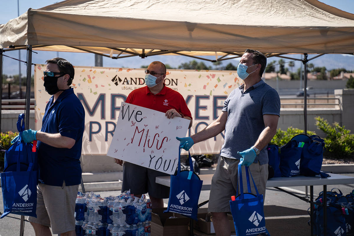 Anderson Business Advisors held an employee appreciation drive-through May 8. (Anderson Busine ...
