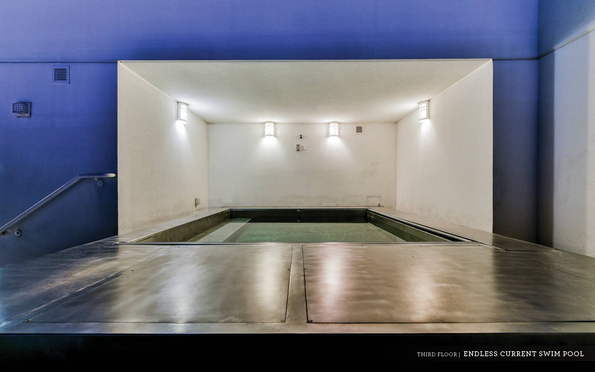 """Ivan Sher Group On the penthouse's private rooftop is a swim-against, or """"endless pool,"""" essent ..."""