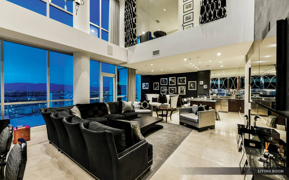 The Sky penthouse has sweeping views of the Strip. (Ivan Sher Group)