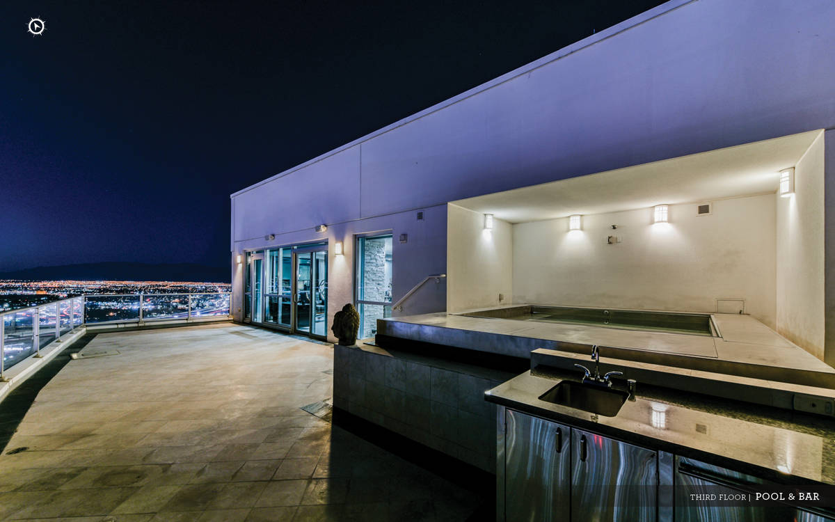 """The Sky penthouse has its own rooftop terrace with an """"endless"""" pool and a spa. (Ivan Sher Group)"""