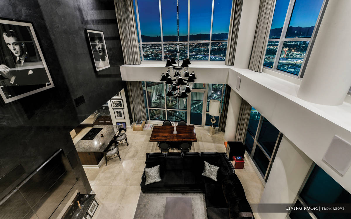 The Sky penthouse on Las Vegas Boulevard is on the 45th floor. It has three levels. (Ivan Sher ...