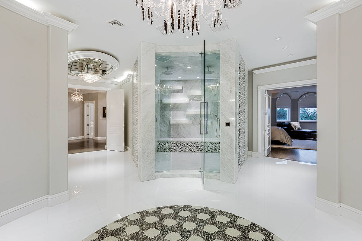 The entrance to the Queensridge mansion. (Tom Love Group)