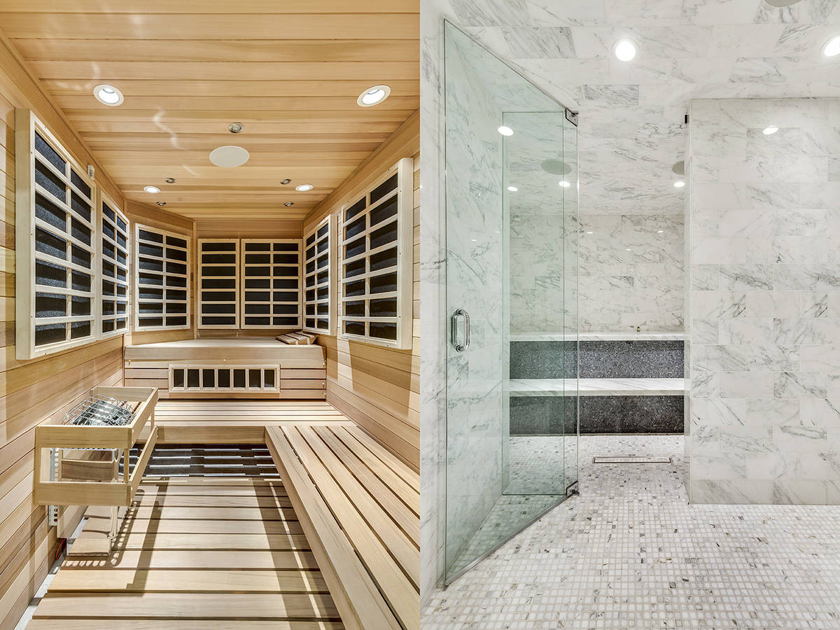 The Queensridge mansion features an indoor spa and steam room. (Tom Love Group)