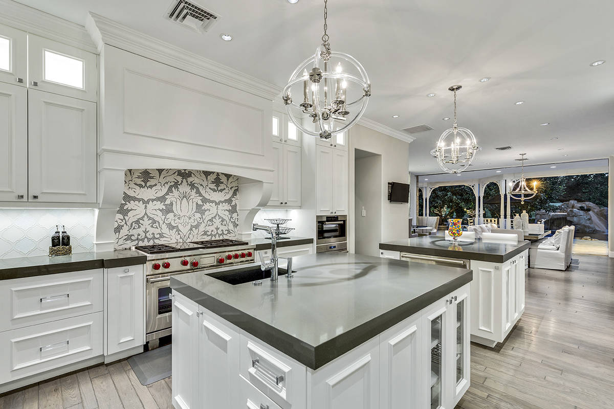 The kitchen in the Queensridge mansion. (Tom Love Group)