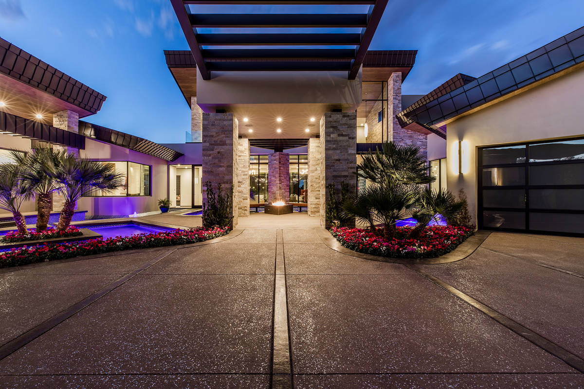 The Seven Hills home has five bedrooms and six baths and a six-car garage. (Ivan Sher Group)
