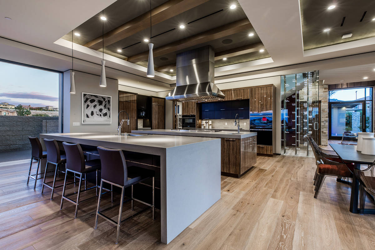 The kitchen in the Seven Hills home. (Ivan Sher Group)