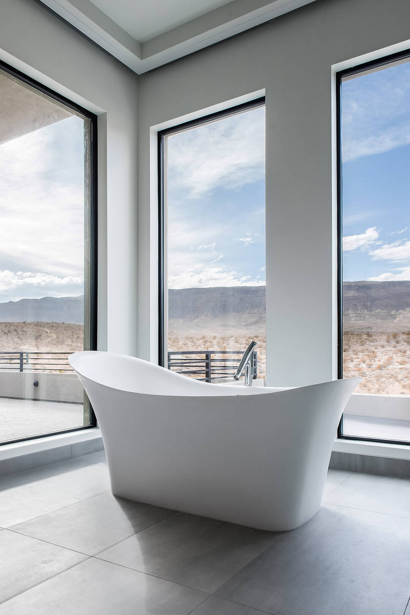 The master bath in the home at 43 Morning Glow Lane. (Simply Vegas)