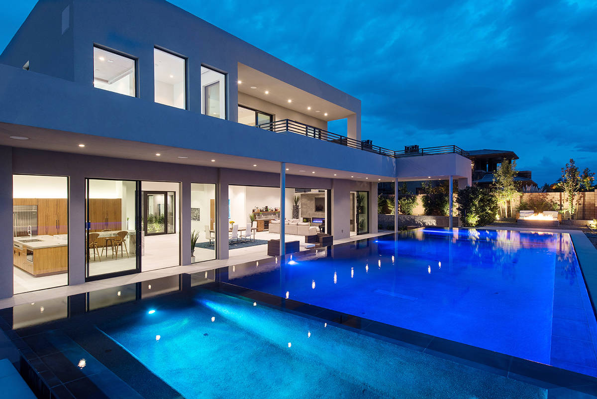 The home at 43 Morning Glow Lane in The Ridges sold for $4.5 million. (Simply Vegas)