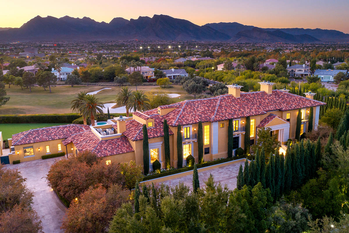 The home at 717 Enclave Court in Country Club Hills in Summerlin measures 13,500 square feet. ( ...