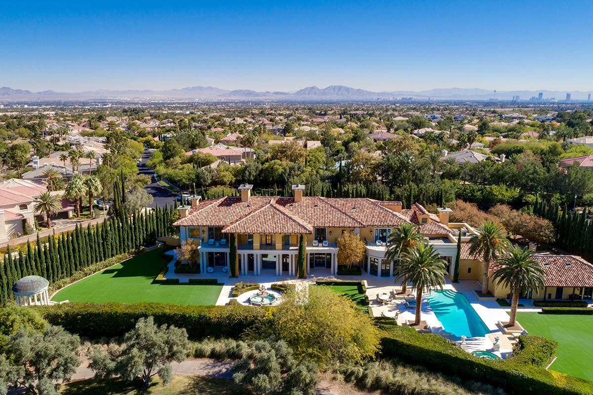 Museo is on Billionaires Row adjacent to TPC Summerlin. (Ivan Sher Group)