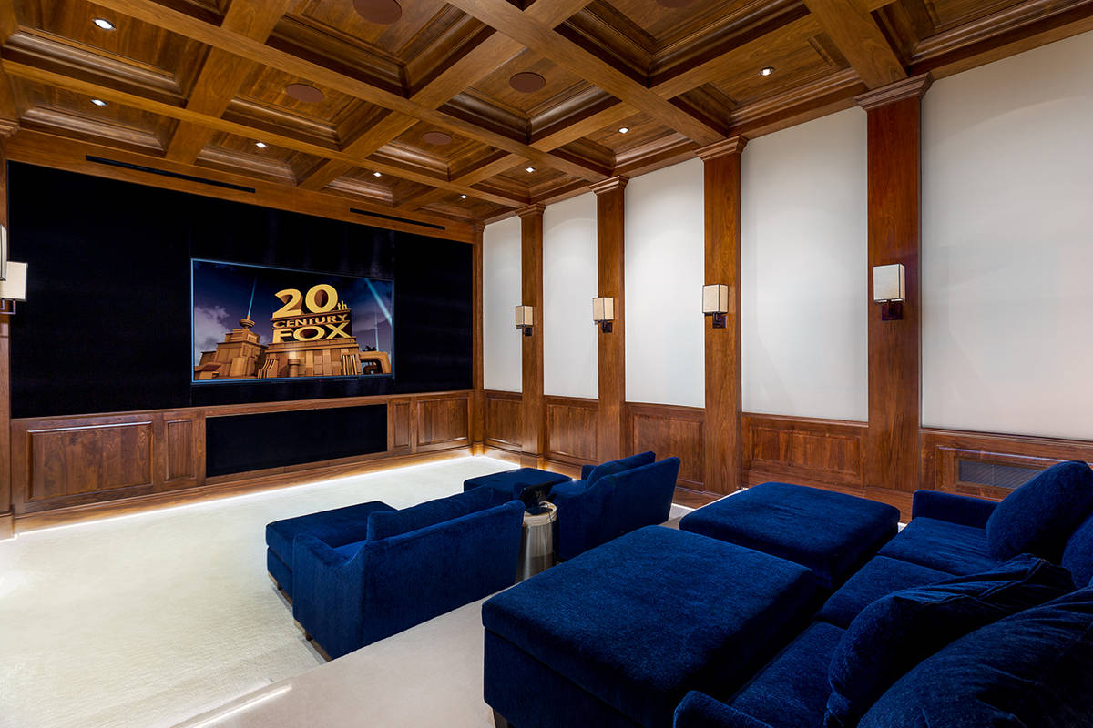 The Wynn's 13,500-square-foot home at 1717 Enclave Court features a large home theater. (Ivan ...