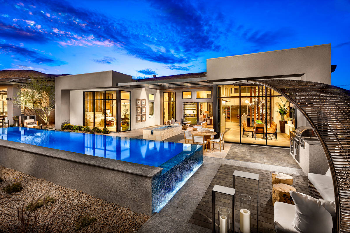 Toll Brothers offers this Sandstone home design in its collection in Mesa Ridge at Summerlin. ( ...