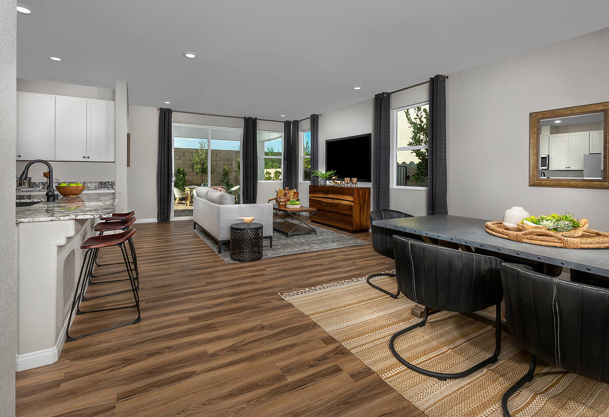 At No. 4 on the list for best-selling Las Vegas homebuilder in the midyear is KB Homes. It's Re ...