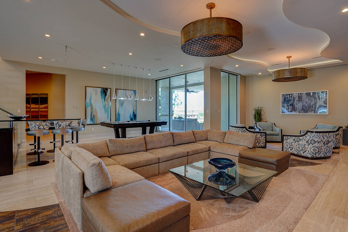 The living room. (Sun West Custom Homes)