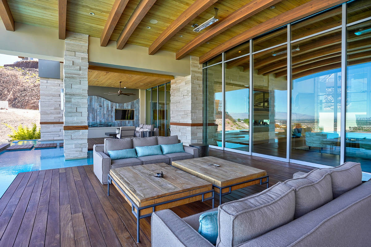 The patio. (Sun West Custom Homes)