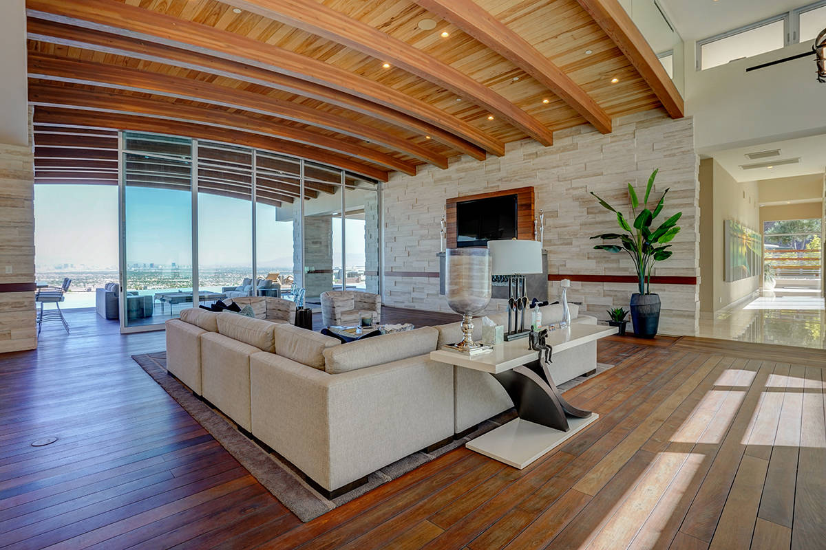The award-winning two-story Henderson home built by Sun West Custom Homes is known as Waters Ed ...