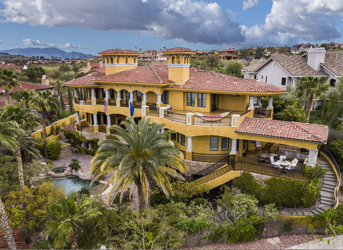 The home is in Lake Las Vegas South Shore. (Elite Homes)