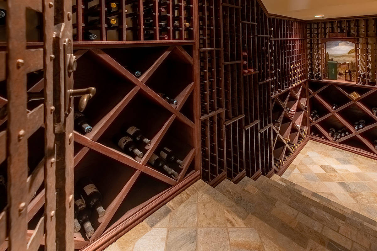 The wine cellar. (Elite Homes)
