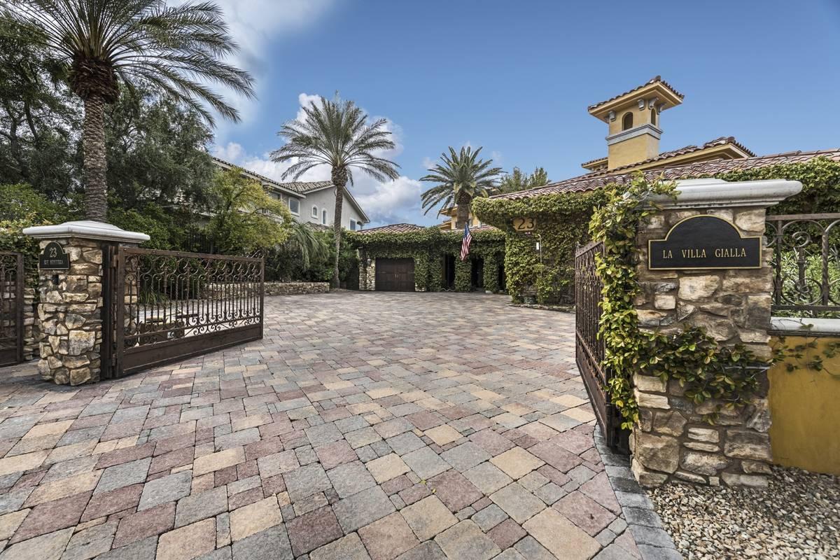 The home's neighborhood has three gates. (Elite Homes)