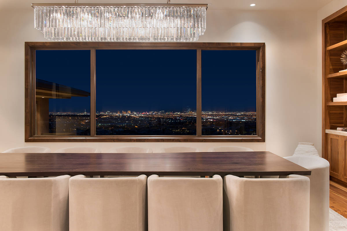 The 14,918-square-foot home in The Ridges features a modern design and picture-perfect views of ...