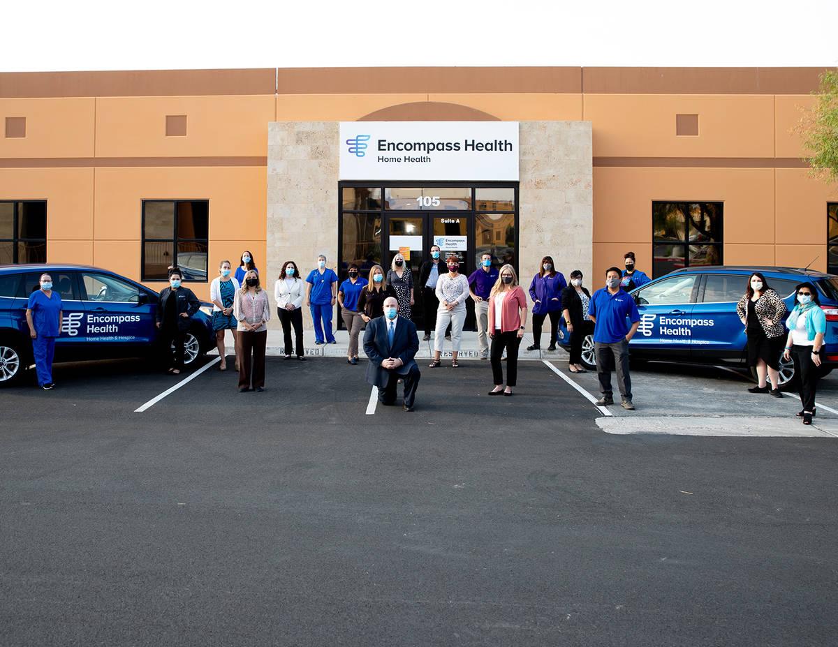 Center, Jay Heiseler, regional director of operations for Encompass Health — Home Health Hosp ...