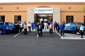 Center, Jay Heiseler, regional director of operations for Encompass Health — Home Health Hosp ...