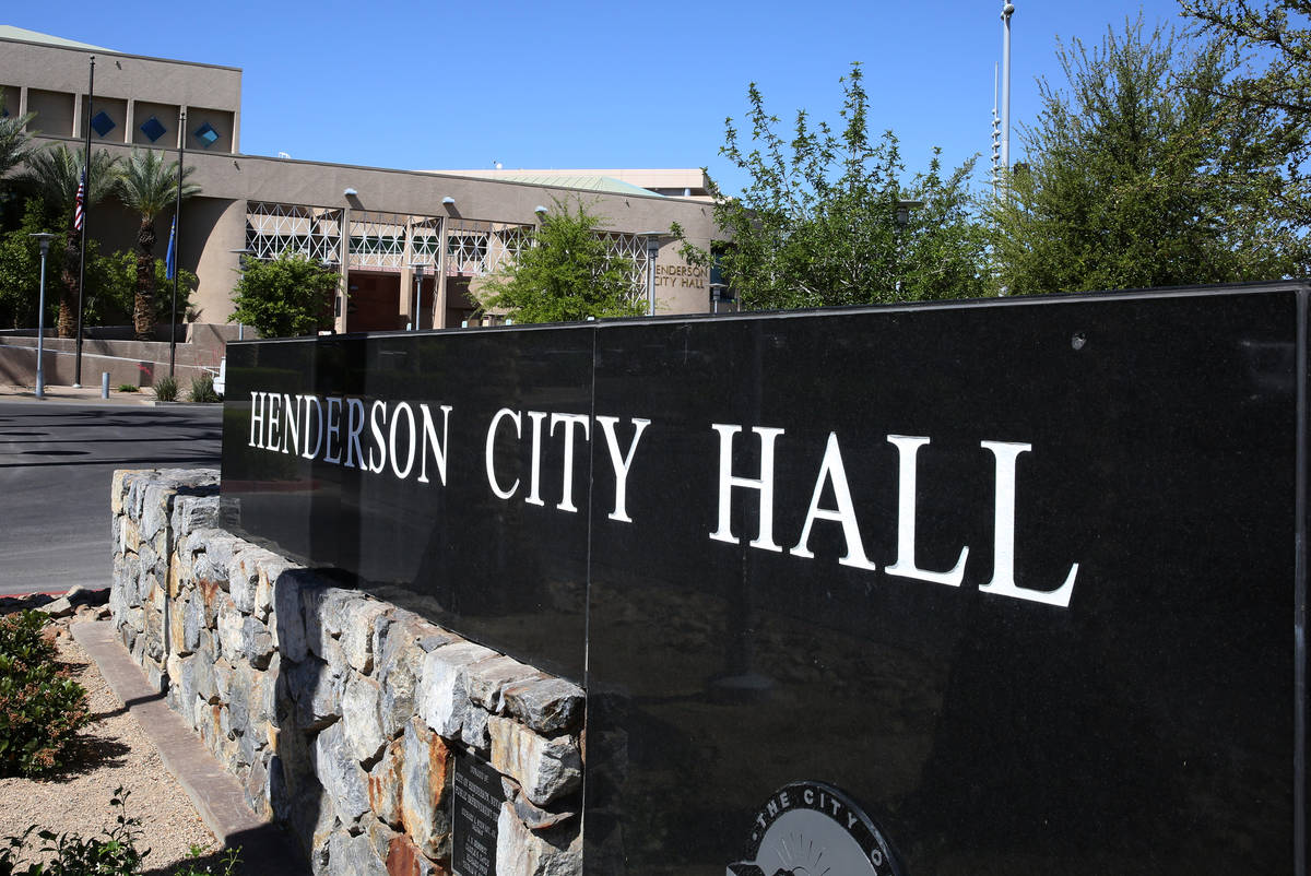 The city of Henderson was recognized for its employee benefits packages. (Las Vegas Review-Jour ...