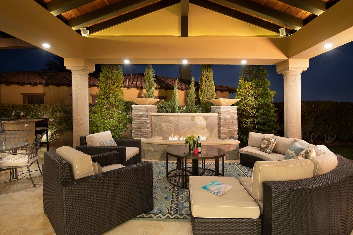 The patio's seating area. (Synergy Sotheby's International Realty)
